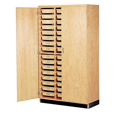 DWI Epoxy, Oak Wood Tote Tray Storage Cabinet 84
