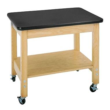 DWI Mobile Demo Laminate, Oak Wood Cart Plastic Laminate Top