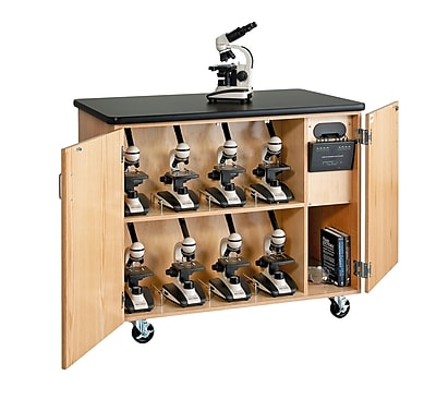 Image of DWI Micro-Charge Station Wood Veneer Table with Storage