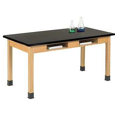 "DWI Science Table 30""H x 72""W x 24""D Wood Epoxy ResinTop"