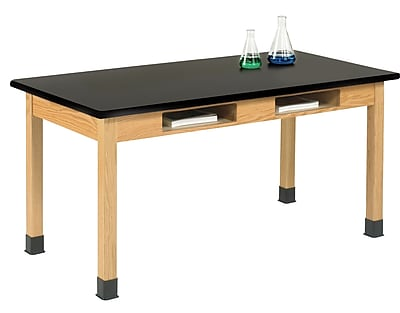 "DWI Science Table 30""H x 72""W x 24""D Wood Epoxy ResinTop"