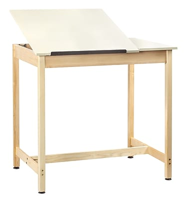Diversified Woodcrafts Shain 42''Lx30''D Rectangular Drafting Table, Maple (DT60SA)