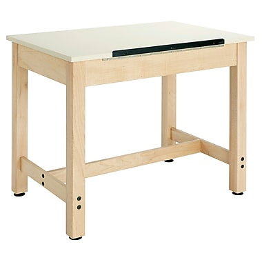 Diversified Woodcrafts Shain 36''Lx24''D Rectangular Drafting Table, Maple (DT9A30)