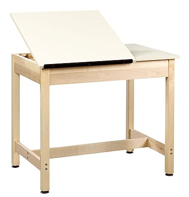 Diversified Woodcrafts Shain 36''Lx24''D Rectangular Drafting Table, Maple (DT9SA30)