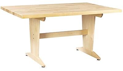 Diversified Woodcrafts Shain 60''Lx42''D Rectangular Art/Planning Table, Maple (PT62M)