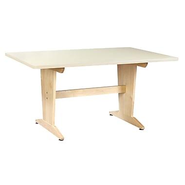 Diversified Woodcrafts Shain 60''Lx42''D Rectangular Art/Planning Table, Wood/Veneer (PT62P)