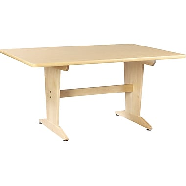 Diversified Woodcrafts Shain 60''Lx42''D Rectangular Art/Planning Table, Maple (PT62PNB)