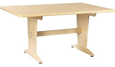 Diversified Woodcrafts Shain 60''Lx42''D Rectangular Art/Planning Table, Maple (PT62PNB)