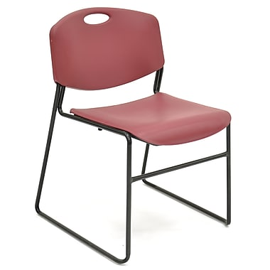 Regency Seating Zeng Polypropene/Metal Stack Chair, Burgundy (4400BY)