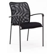 Regency Seating Mario Mesh/Padding/Metal Stack Chair (5275BK)