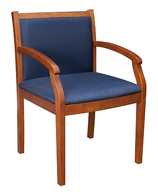 Regency Seating Regent Fabric/Wood Guest Chair Cherry/Blue
