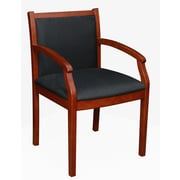Regency Seating Regent Wood Guest Chair, Black/Cherry (9875CHBK)