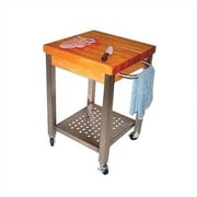 John Boos Cucina Americana Kitchen Cart w/ Butcher Block Top; 4''
