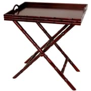 Oriental Furniture Tea Tray and Trestle Stand Set