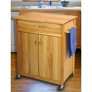 Catskill Craftsmen Mid Size Kitchen Cart w/ Butcher Block Top