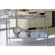 A Line by Advance Tabco Prep Table by
