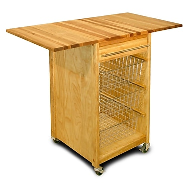 Catskill Craftsmen Kitchen Cart w/ Butcher Block Top
