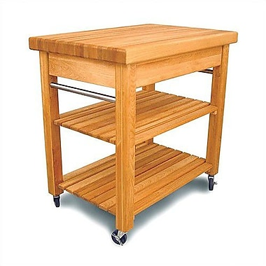 Catskill Craftsmen French Country Kitchen Cart w/ Butcher Block Top