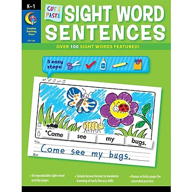 Cut & Paste Sight Words Sentences, Used Book