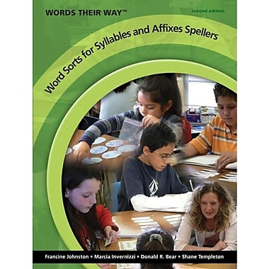 Words Their Way Word Sorts for Syllables and Affixes Spellers