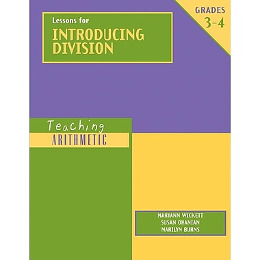 Teaching Arithmetic: Lessons for Introducing Division Grades 3-4
