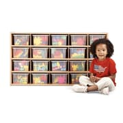 Young Time 20 Compartment Cubby; Ready to Assemble