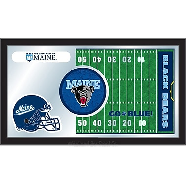 Holland Bar Stool NCAA Football Mirror Framed Graphic Art; Maine