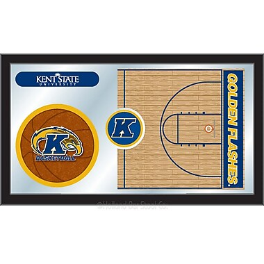Holland Bar Stool NCAA Basketball Mirror Framed Graphic Art; Kent State