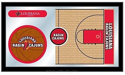 Holland Bar Stool NCAA Basketball Mirror Framed Graphic Art; Louisiana-Lafayette