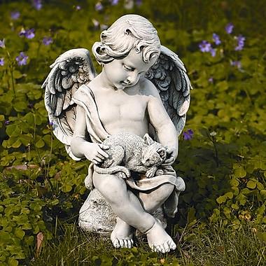 Roman, Inc. Cherub w/ Kitten Statue