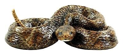 Michael Carr Western Diamond Back Small Snake Statue WYF078276748517