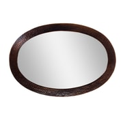 The Copper Factory Oval Mirror; Antique Copper