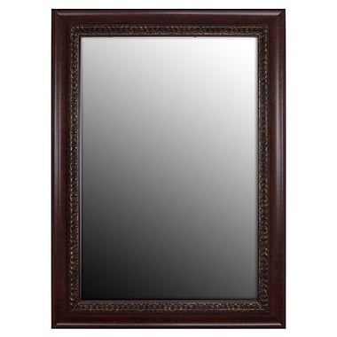Second Look Mirrors Birds Eye Cherry Accents Wall Mirror; 44.25''H x 34.25''W x 1.5''D