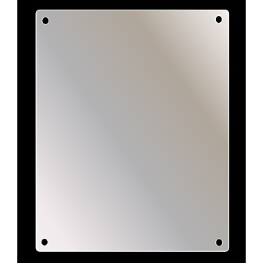 Ketcham Medicine Cabinets Stainless Steel Mirror; 30'' H x 16'' W x 0.125'' D