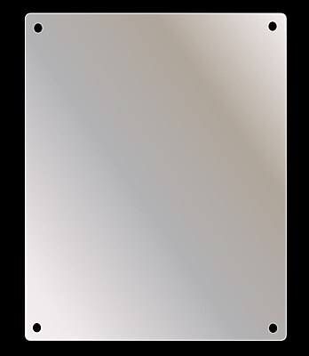 Ketcham Medicine Cabinets Stainless Steel Mirror; 14'' H x 10'' W x 0.125'' D