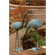 SPI Home Stately Garden Cranes Statue (Set of 2)