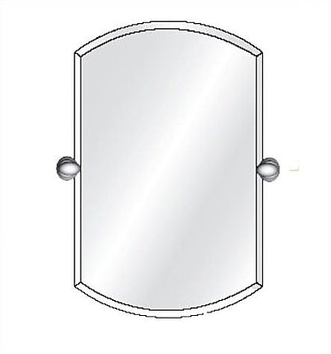 Afina Radiance Tilt Double Arch Frameless Wall Mirror; 26'' H x 16'' W x 3.5'' D
