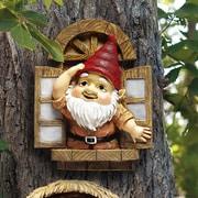 Design Toscano Knothole Gnomes Window Gnome Garden Welcome Tree Statue