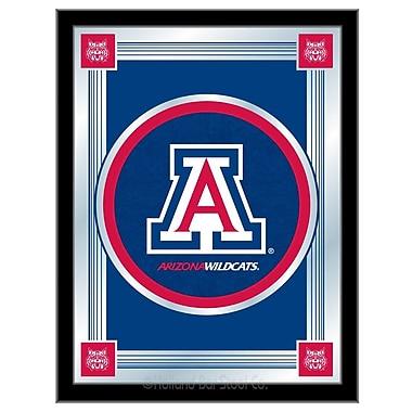 Holland Bar Stool NCAA Logo Mirror Framed Graphic Art; Arizona