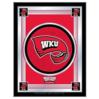 Holland Bar Stool NCAA Logo Mirror Framed Graphic Art; Western Kentucky