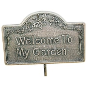 Oakland Living Welcome To My Garden Sign; Antique Bronze