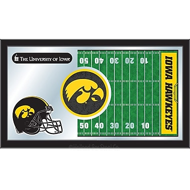 Holland Bar Stool NCAA Football Mirror Framed Graphic Art; Iowa