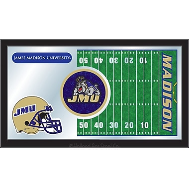 Holland Bar Stool NCAA Football Mirror Framed Graphic Art; James Madison