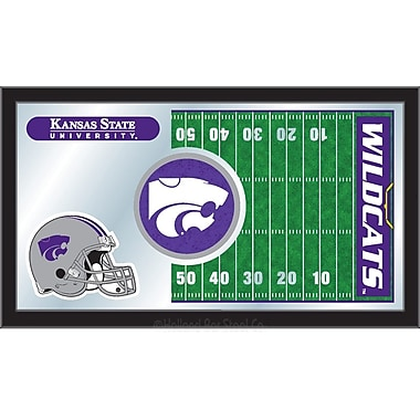 Holland Bar Stool NCAA Football Mirror Framed Graphic Art; Kansas State