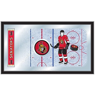 Holland Bar Stool NHL Hockey Rink Mirror Framed Graphic Art; Ottawa Senators