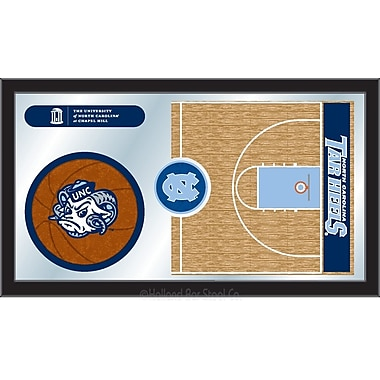 Holland Bar Stool NCAA Basketball Mirror Framed Graphic Art; North Carolina
