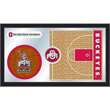 Holland Bar Stool NCAA Basketball Mirror Framed Graphic Art; Ohio State