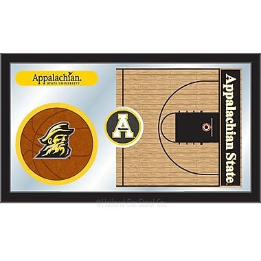 Holland Bar Stool NCAA Basketball Mirror Framed Graphic Art; Appalachian State