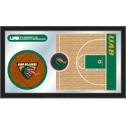 Holland Bar Stool NCAA Basketball Mirror Framed Graphic Art; Alabama at Birmingham