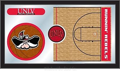 Holland Bar Stool NCAA Basketball Mirror Framed Graphic Art; UNLV